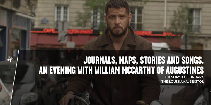 Journals, maps, stories and songs. An evening with William McCarthy of AUGUSTINES
