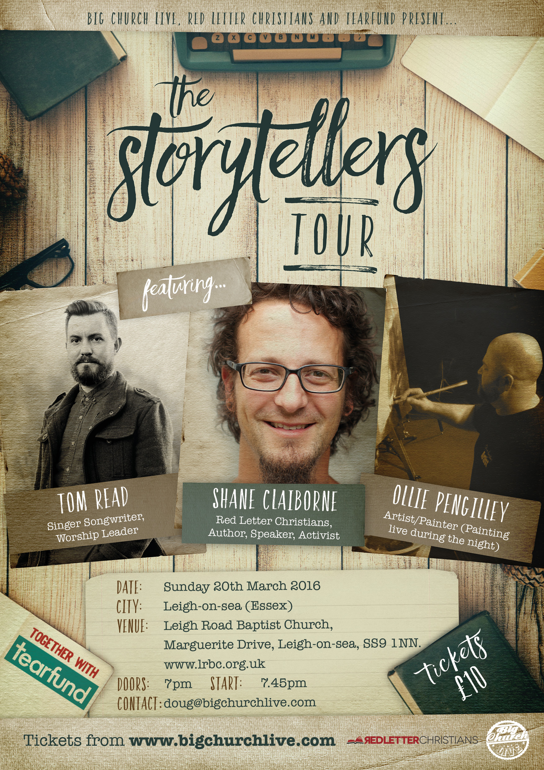 The Storytellers Tour: Featuring Shane Claiborne | Tom Read | Oliver Pengilley