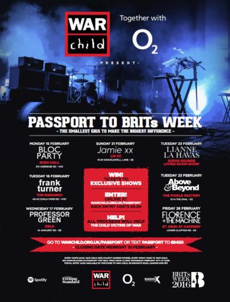 PASSPORT TO BRITs WEEK - BLOC PARTY