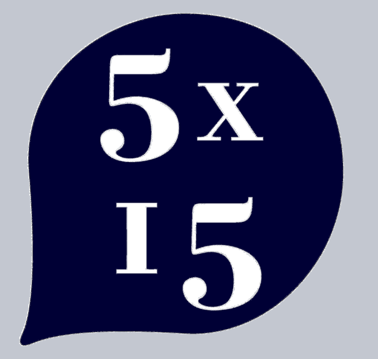 5×15 FIVE SPEAKERS, FIFTEEN MINUTES EACH: featuring Andrew Solomon, Isy Suttie, Roz Savage,  Gavin Francis & Superintendent Raj S. Kohli