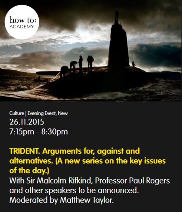 how to: TRIDENT. Arguments for, against and alternatives. (A new series on the key issues of the day.)