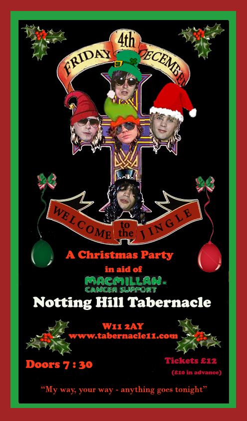 WELCOME TO THE JINGLE  -  A Christmas Party in Aid of Macmillan Cancer Support