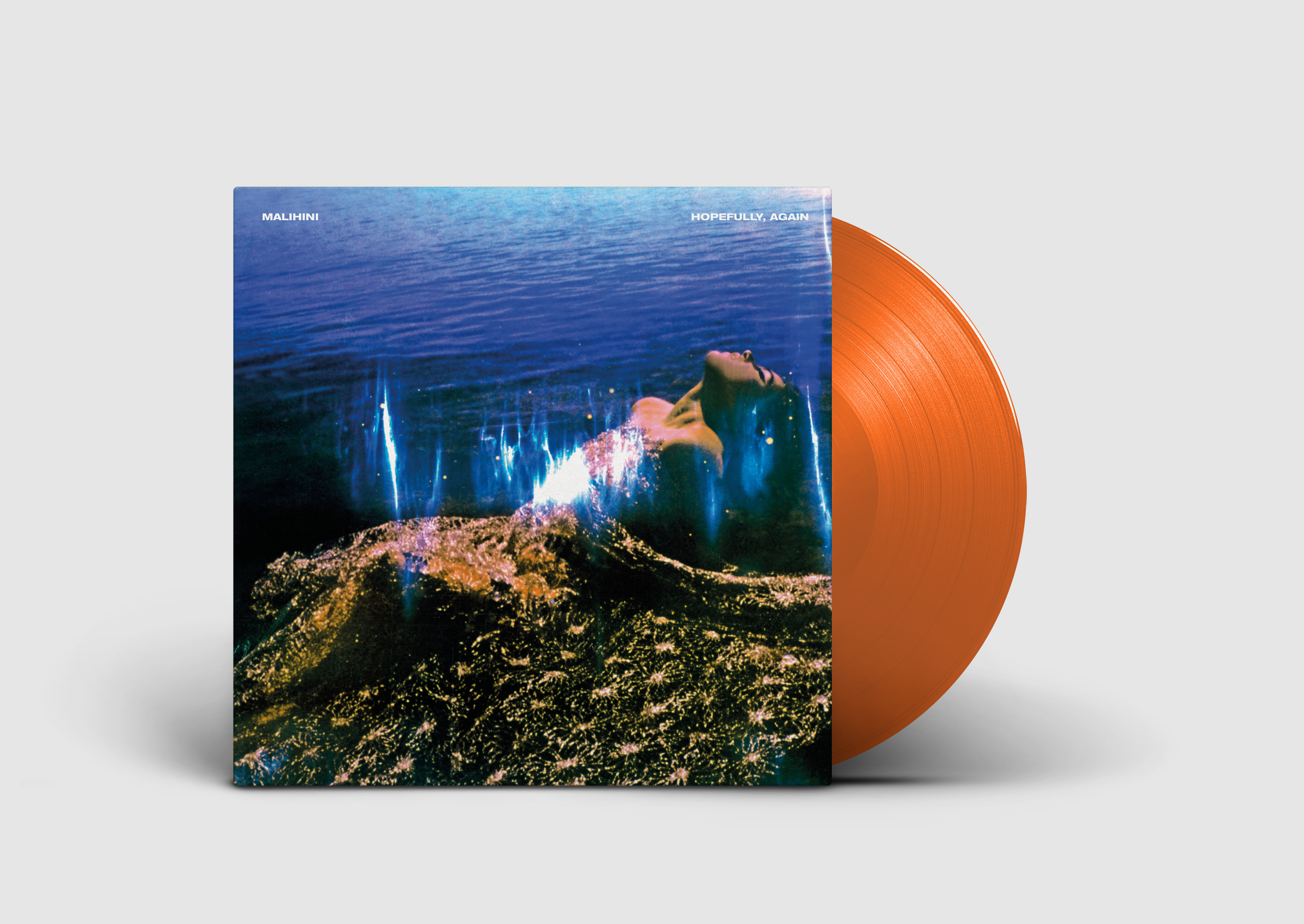 'Hopefully, Again' signed orange vinyl (includes instant download of title track) - malihini