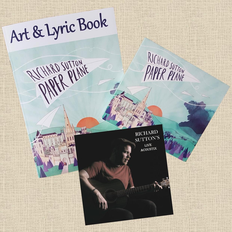 Paper Plane CD + Art & Lyric Book + LIVE Acoustix EP - RICHARD SUTTON