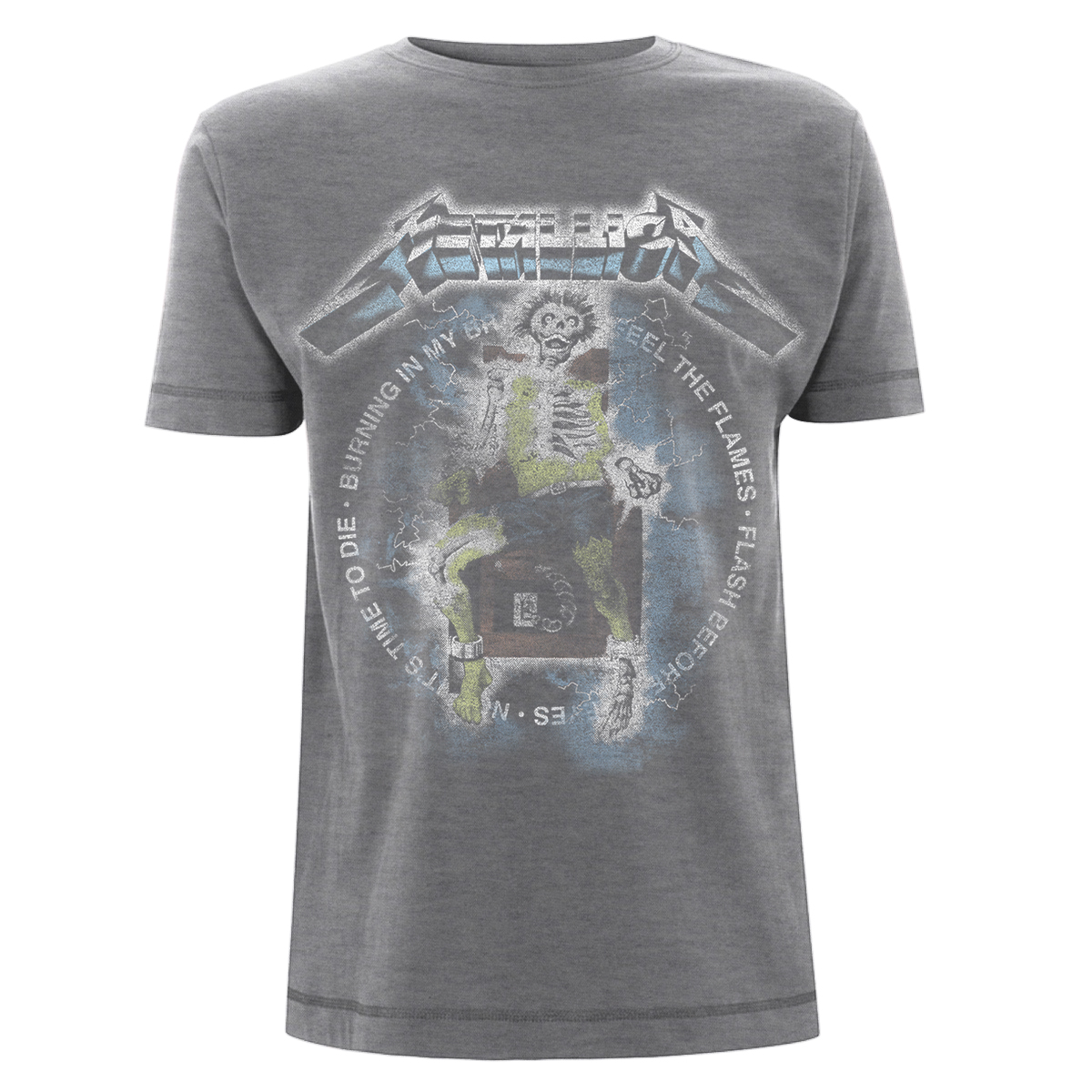 Electric Chair Songs - Sports Grey Tee - Metallica