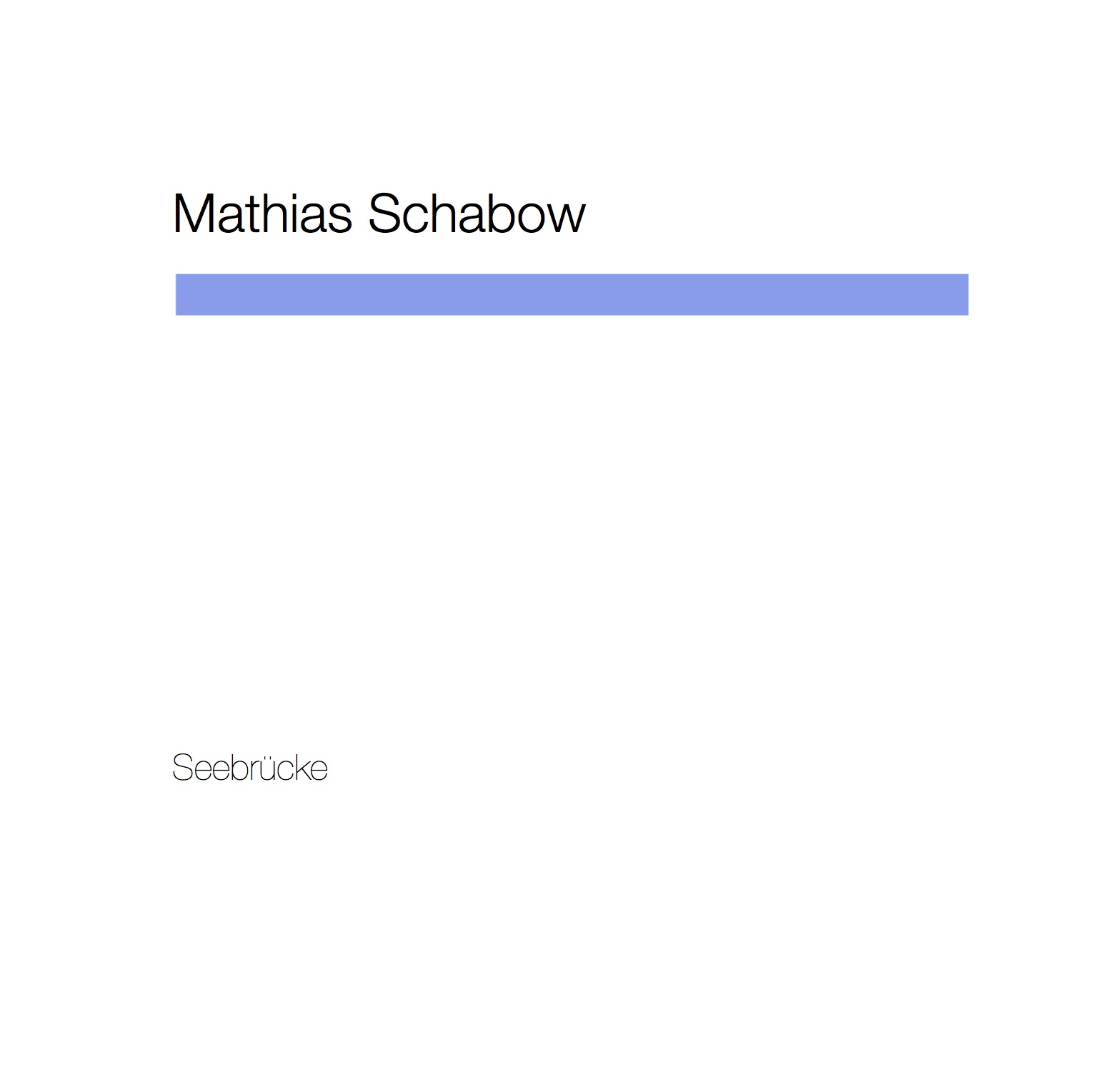 Seebrücke - Mathias Schabow | Piano
