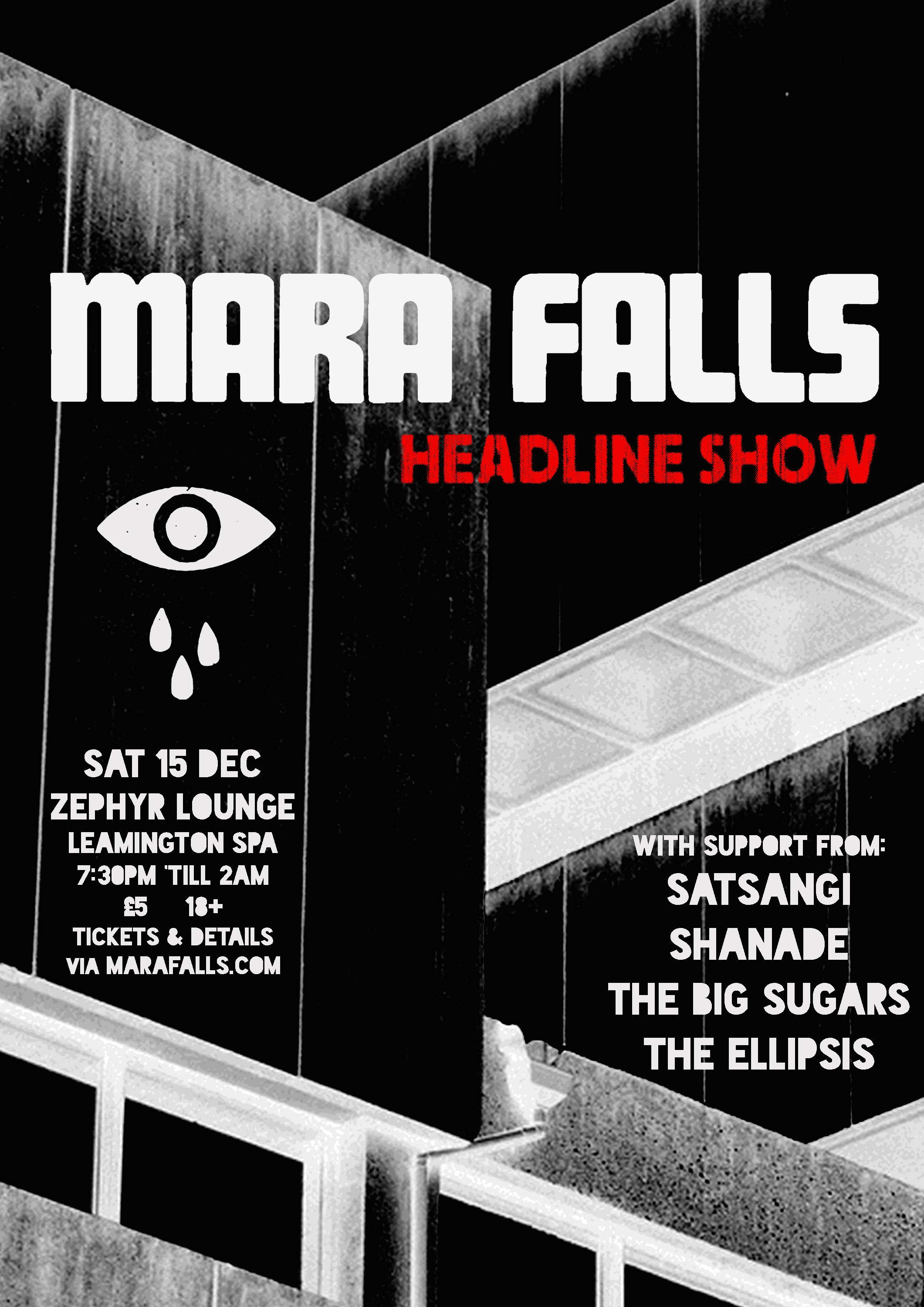 Mara Falls headline show @ Zephyr Lounge, Leamington Spa - 15th December 2018