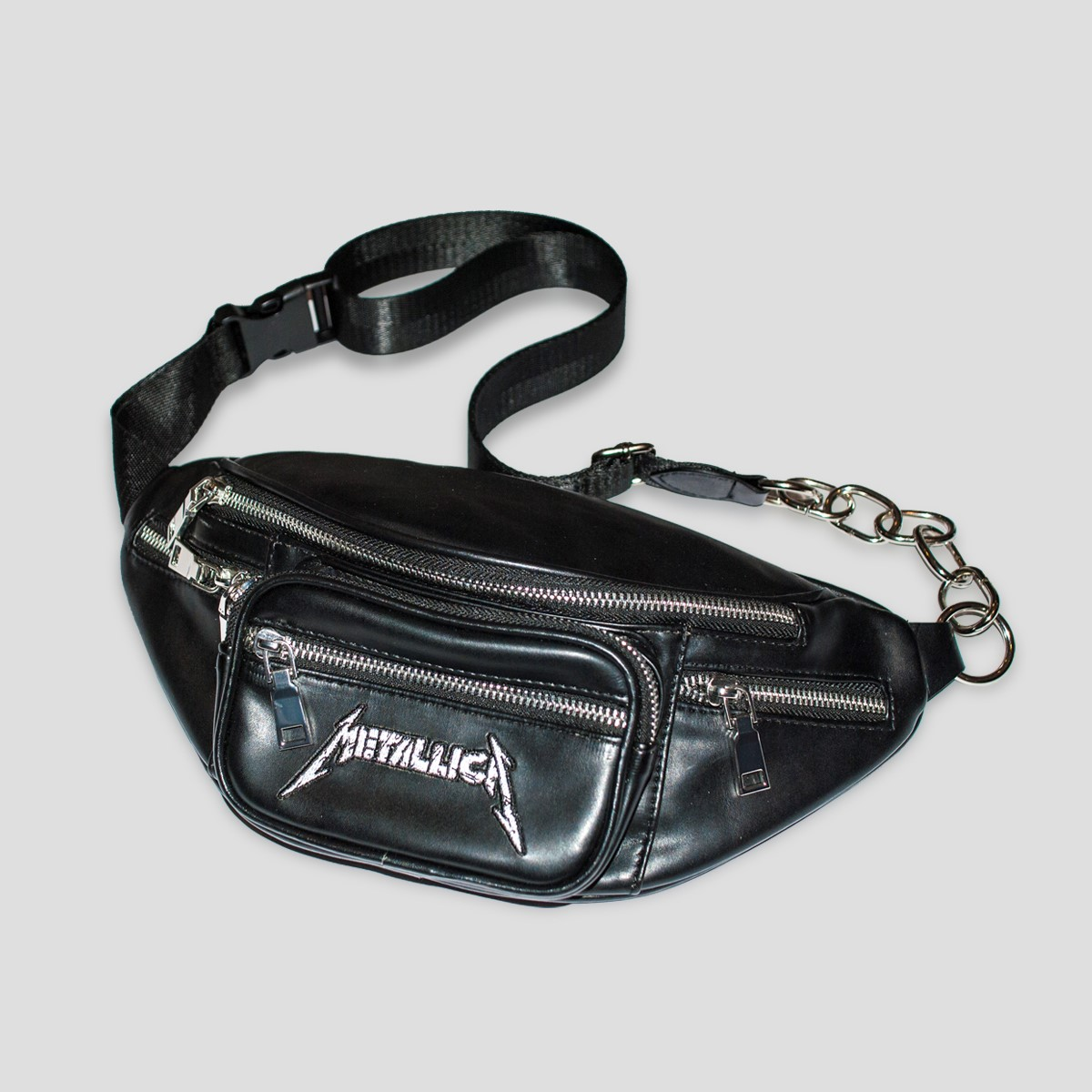 Embroidered Logo – Faux Leather Fannypack - Metallica