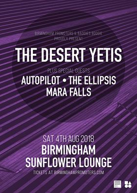 Mara Falls support The Desert Yetis @ The Sunflower Lounge, Birmingham - 04th August 2018