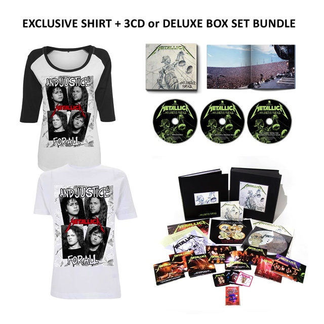 …And Justice For All (Re-Mastered) Boxset or 3CD + T-shirt Bundle - Metallica