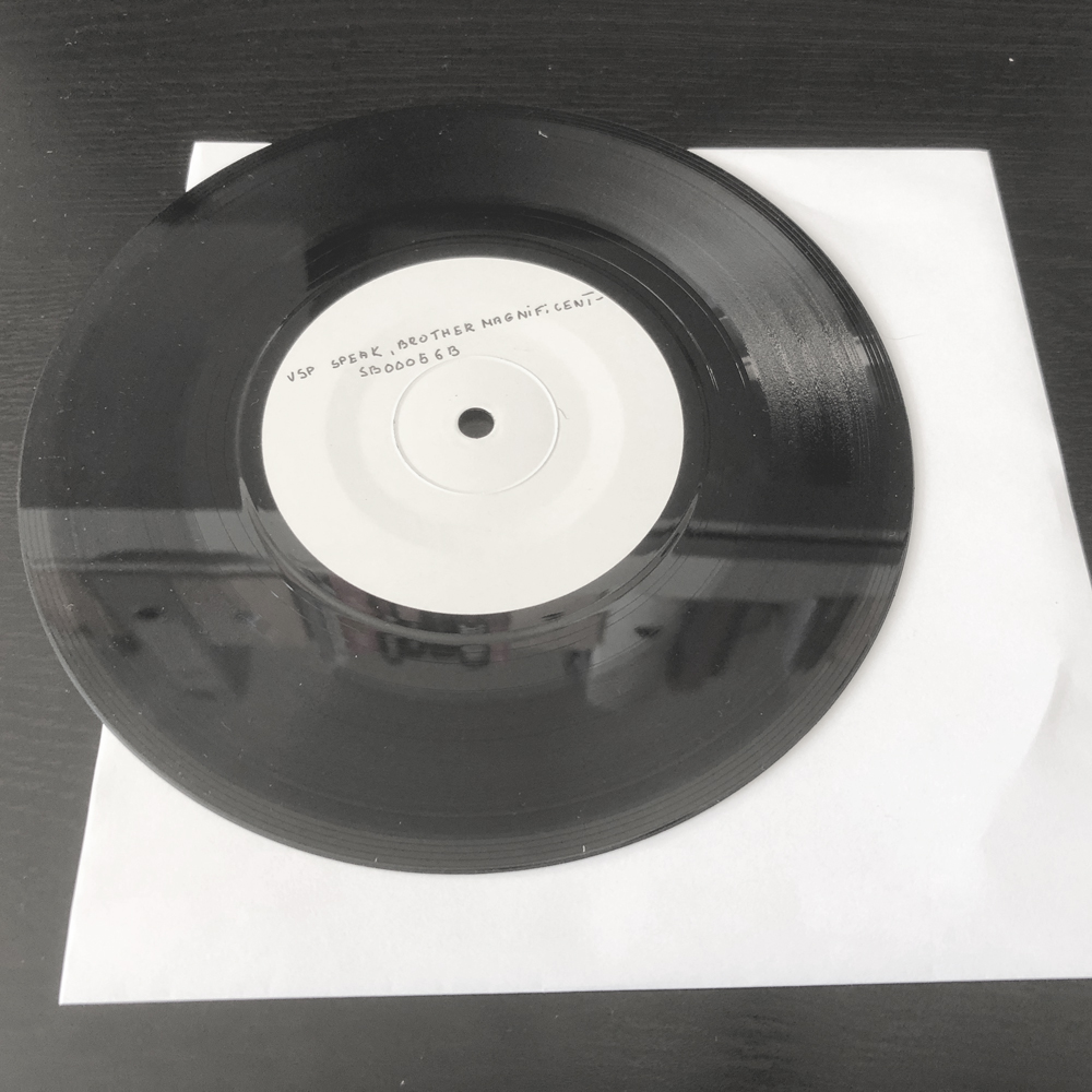 Special Signed Single Vinyl TEST PRESSING!!  [1 Left] - Official Speak, Brother Merchandise, Downloads and Tickets