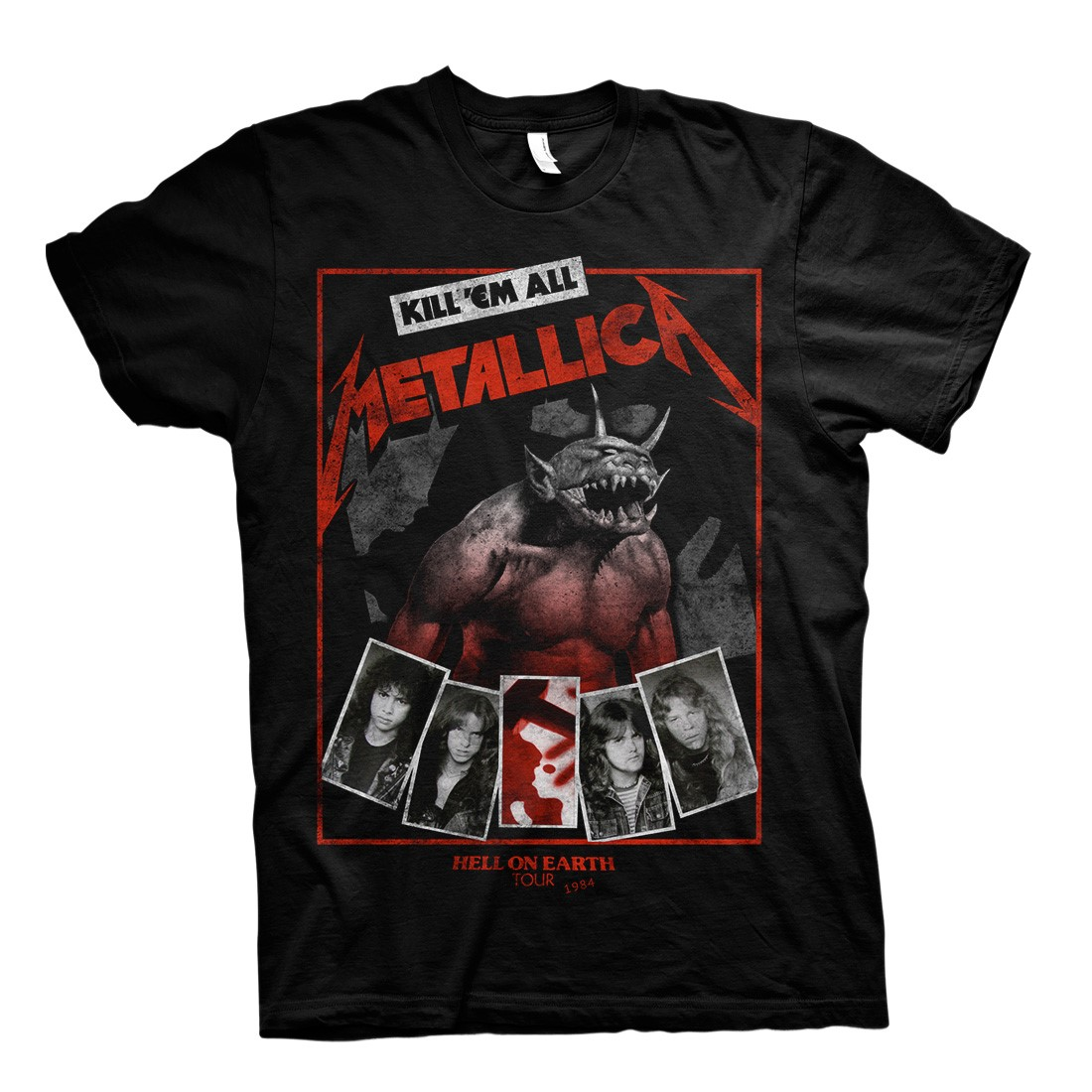 Hell On Earth - Red And Black Tee - Metallica