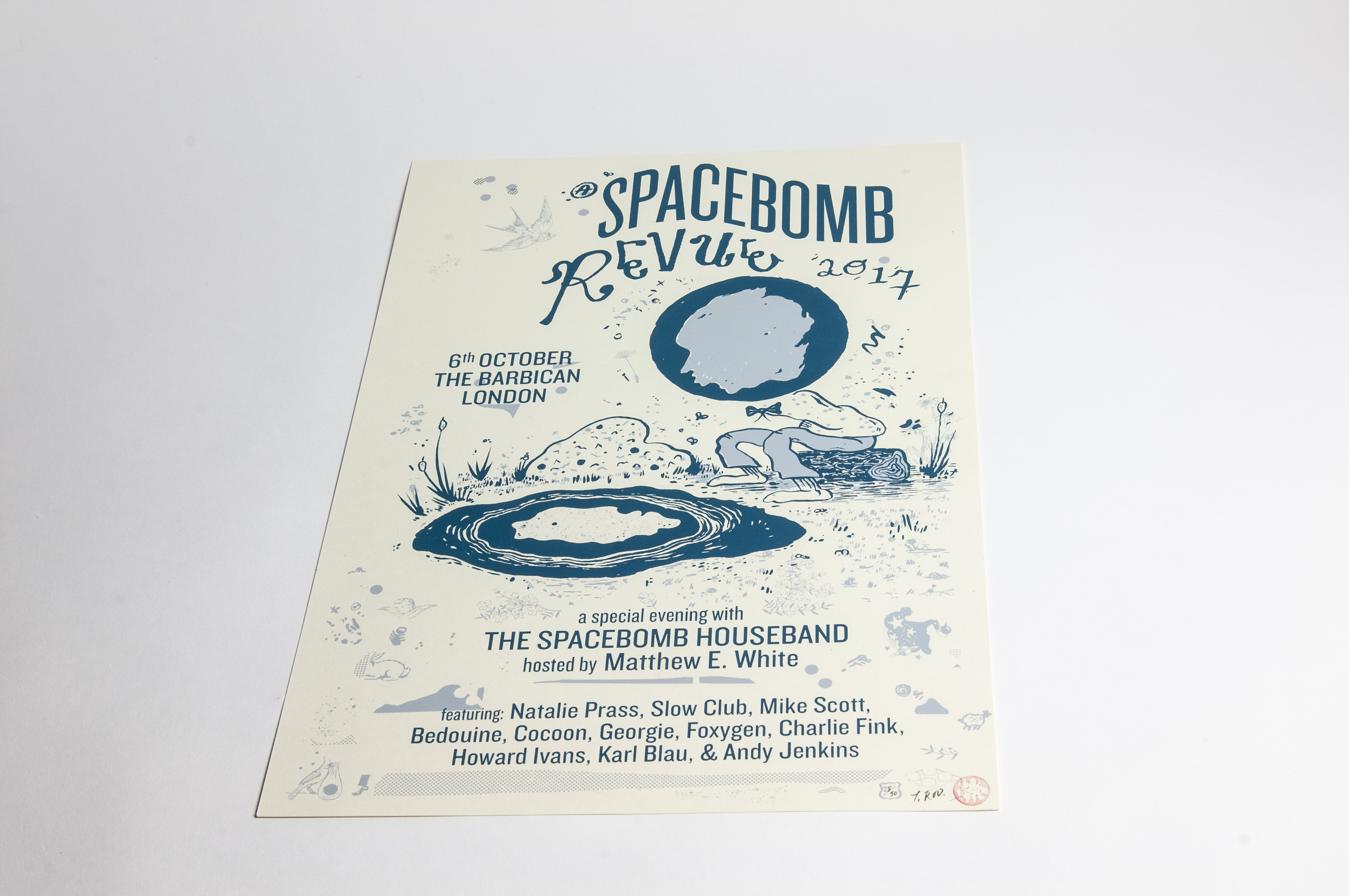 """""""A Spacebomb Revue in London 2017"""" Poster - Spacebomb Records"""