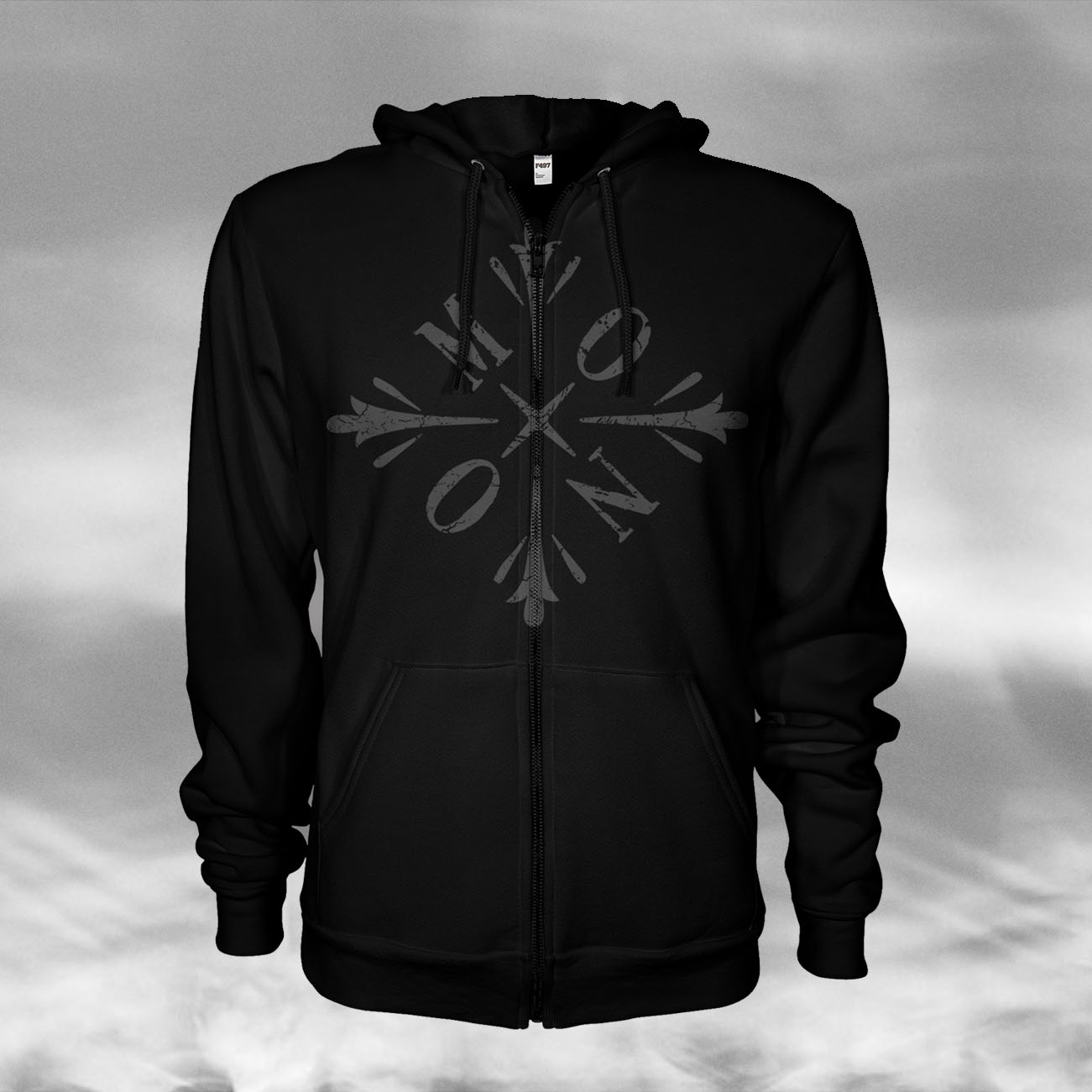 MONO - 'Snowflake' Zipped Hoody - MONO