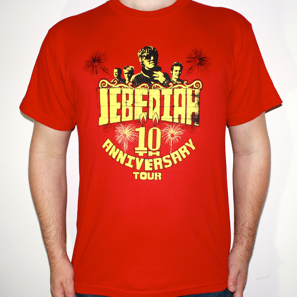 10th Anniversary - Red T-Shirt - Jebediah