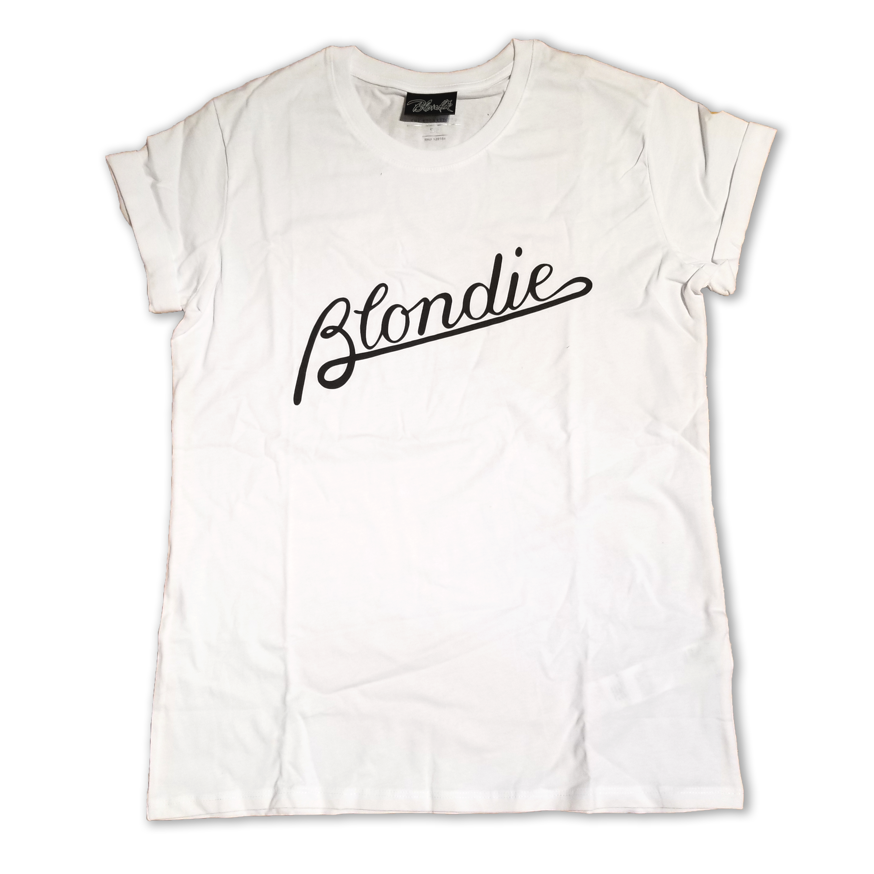 WOMENS PARALLEL LINES - BLACK LOGO TEE - BlondieUS