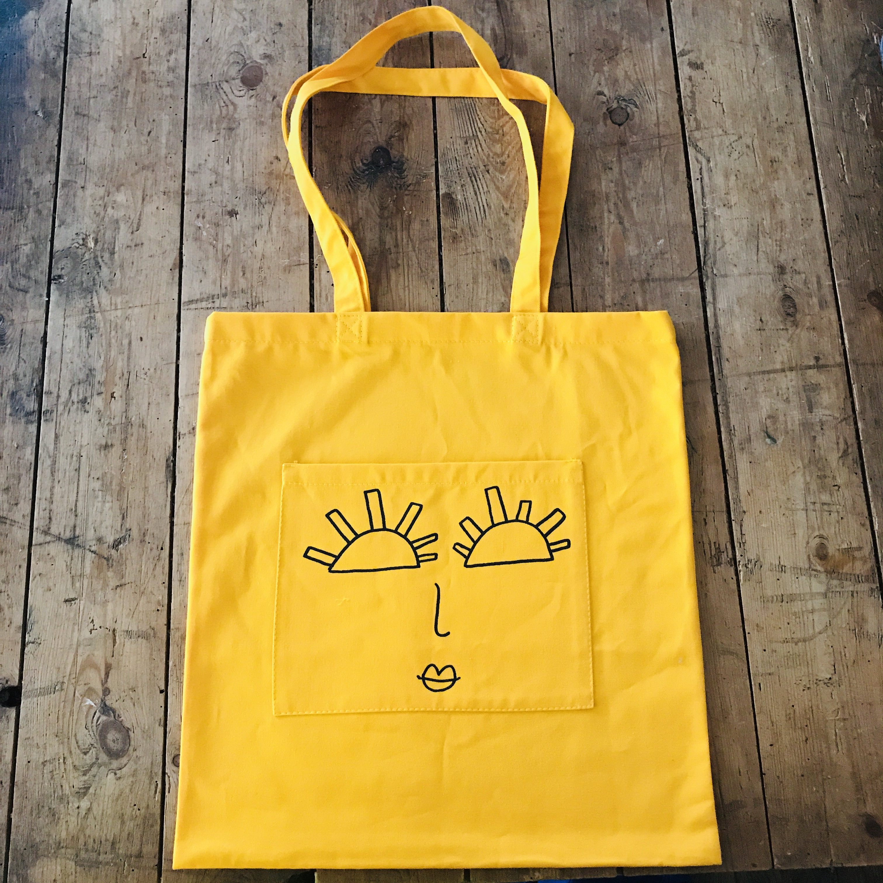 YELLOW SUNRISE POCKET TOTE - Jessie Cave