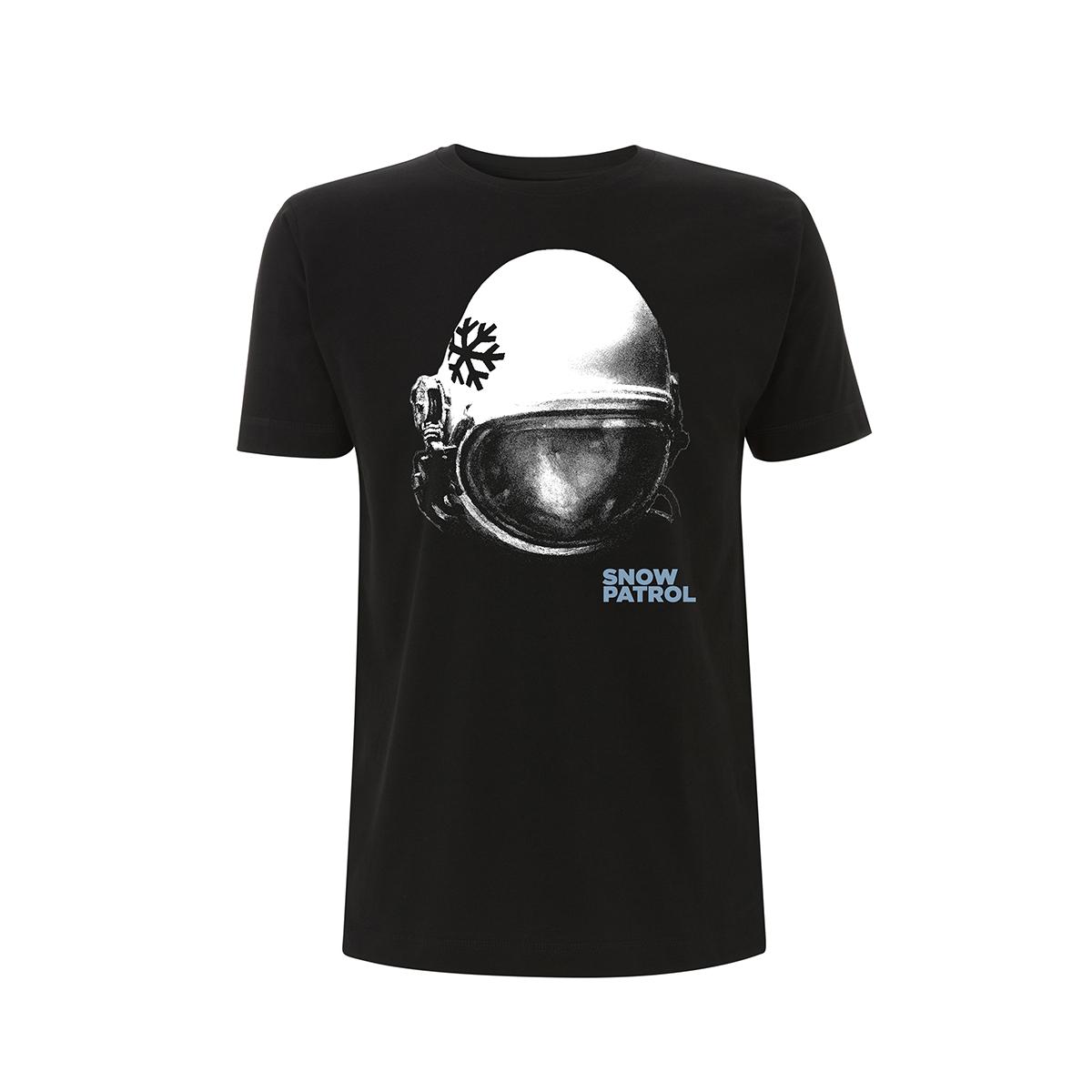 Astronaut Helmet - UK/Europe Dateback Black Tee - Snow Patrol