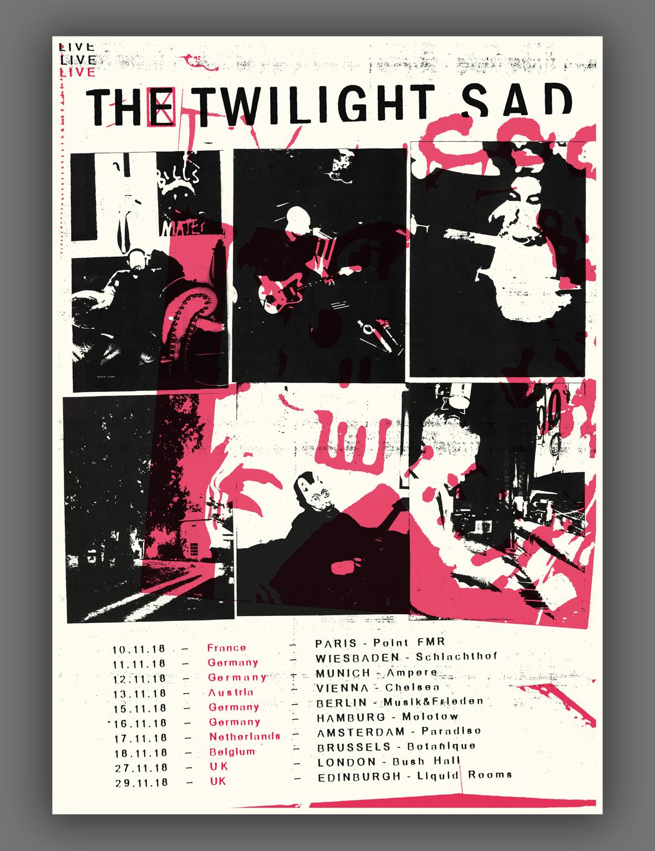 European Tour Screen Print 2018 - The Twilight Sad