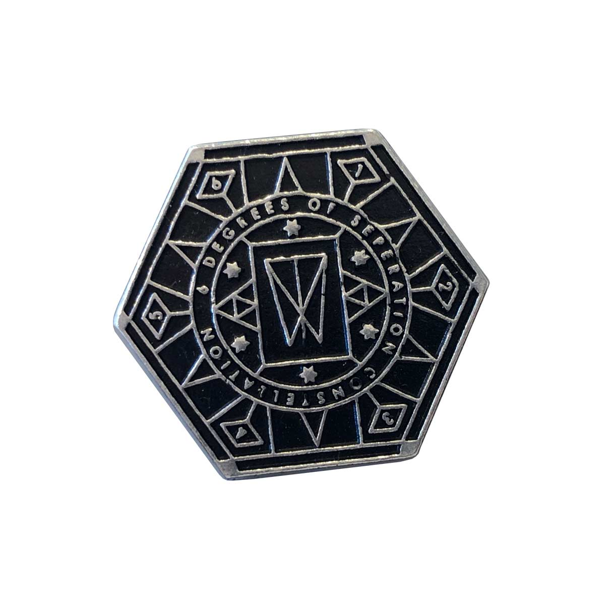 Hexagon – Pewter & Enamel Badge - Within Temptation