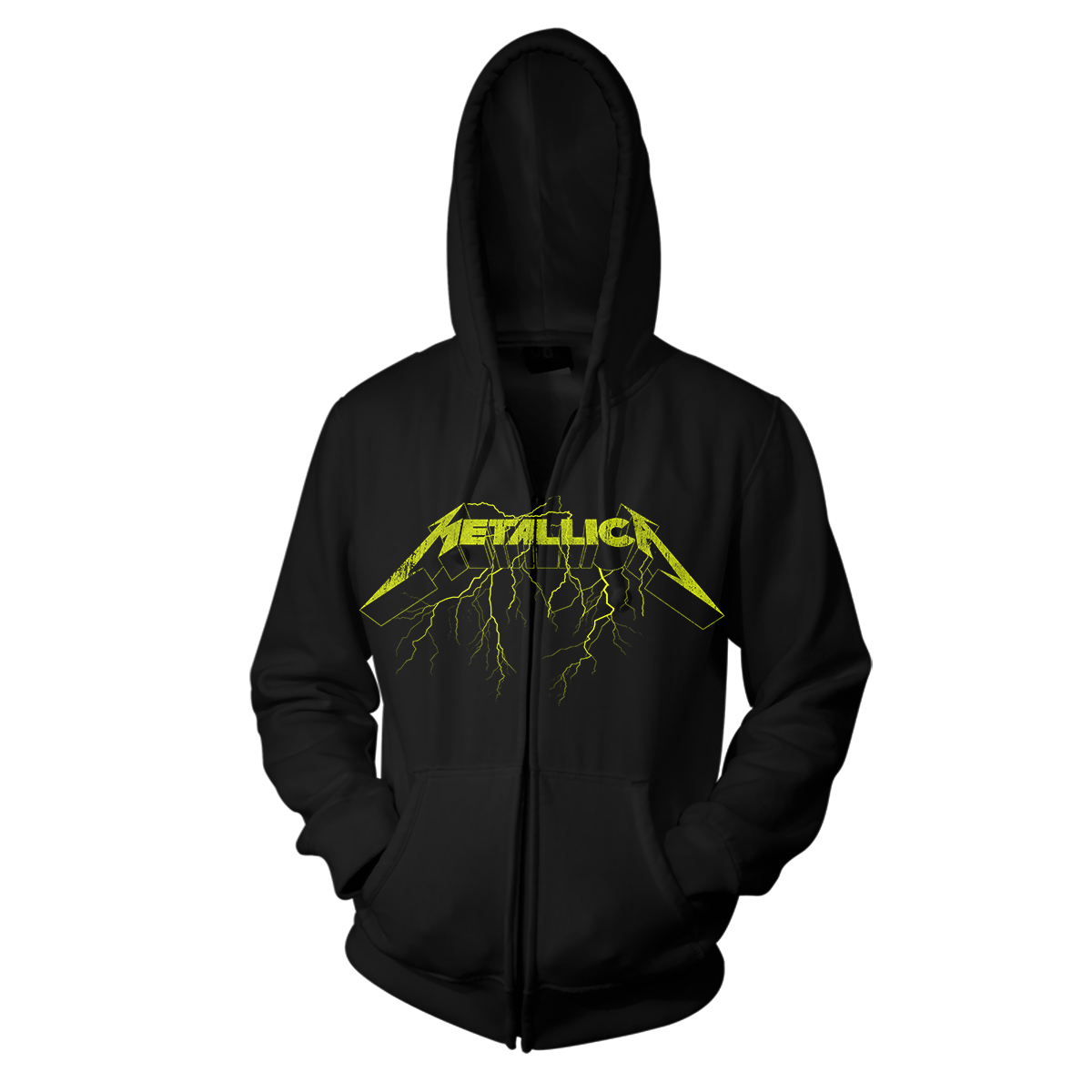 Splatter Lightning - Black Zip Hood - Metallica
