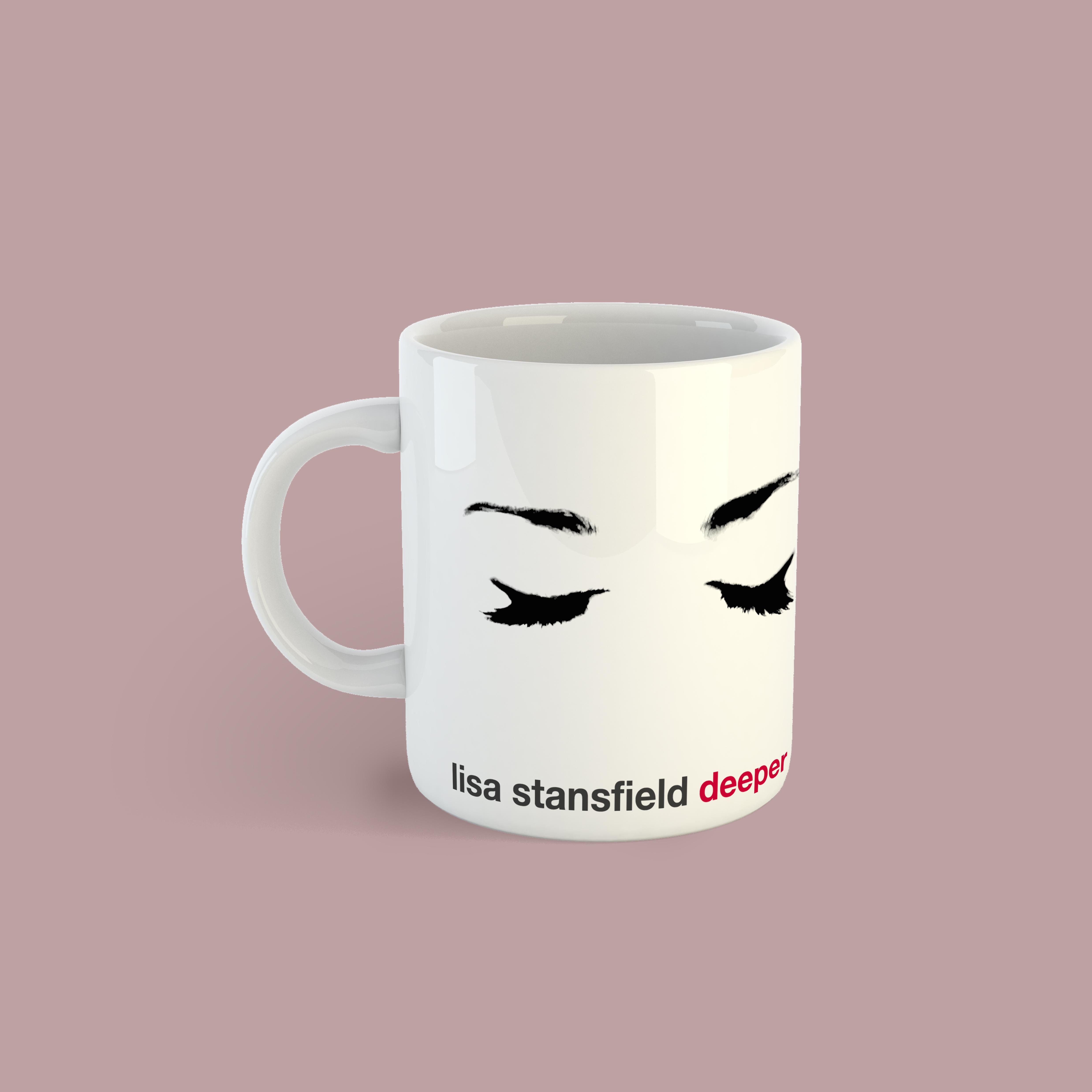 Eye Mug with free PVC Lips Keyring - Lisa Stansfield