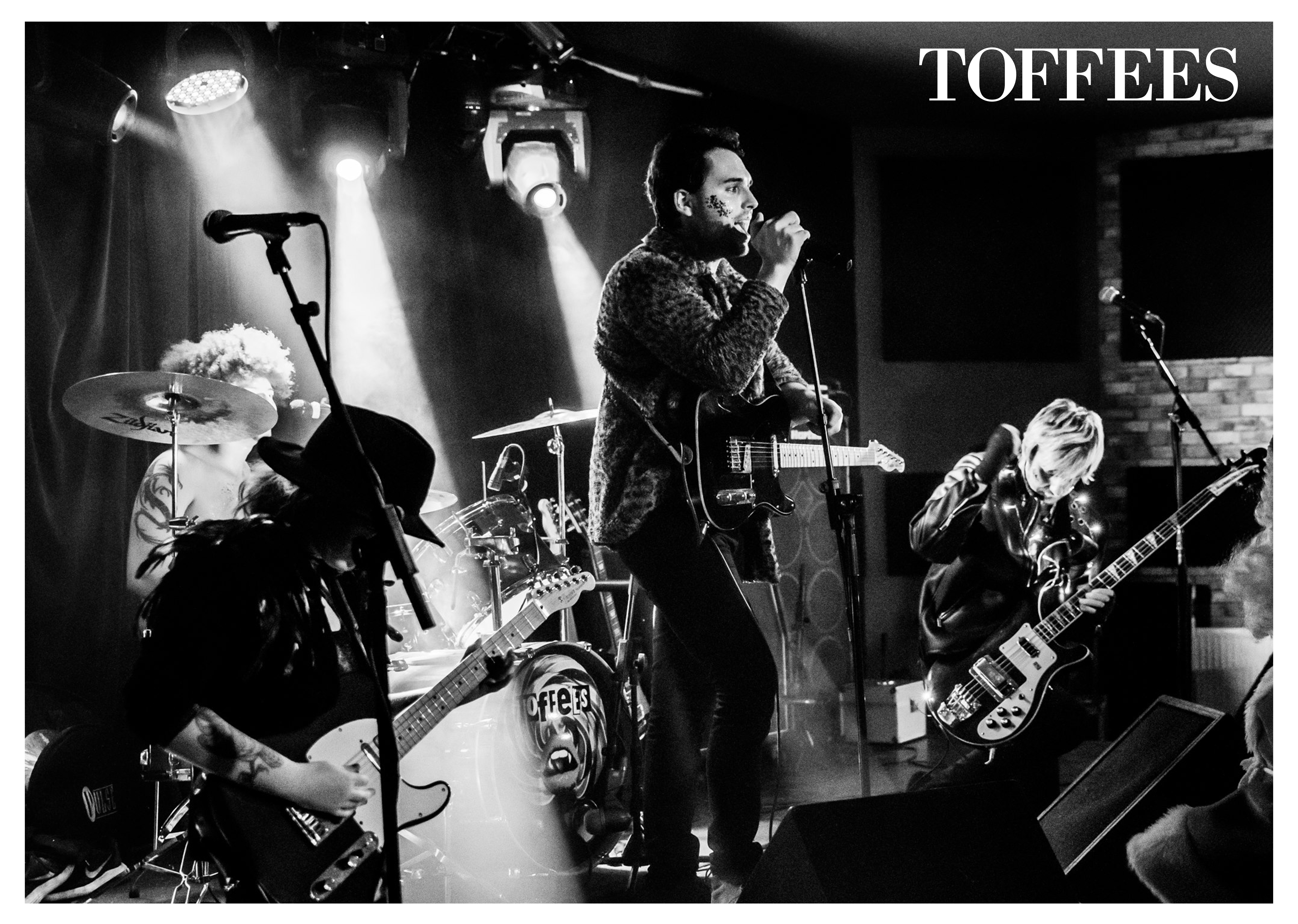Toffees Full Band Poster - TOFFEES