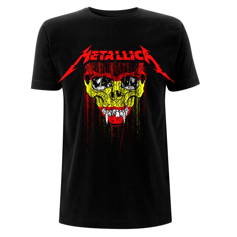 Spain Skull Flag - Tee - Metallica
