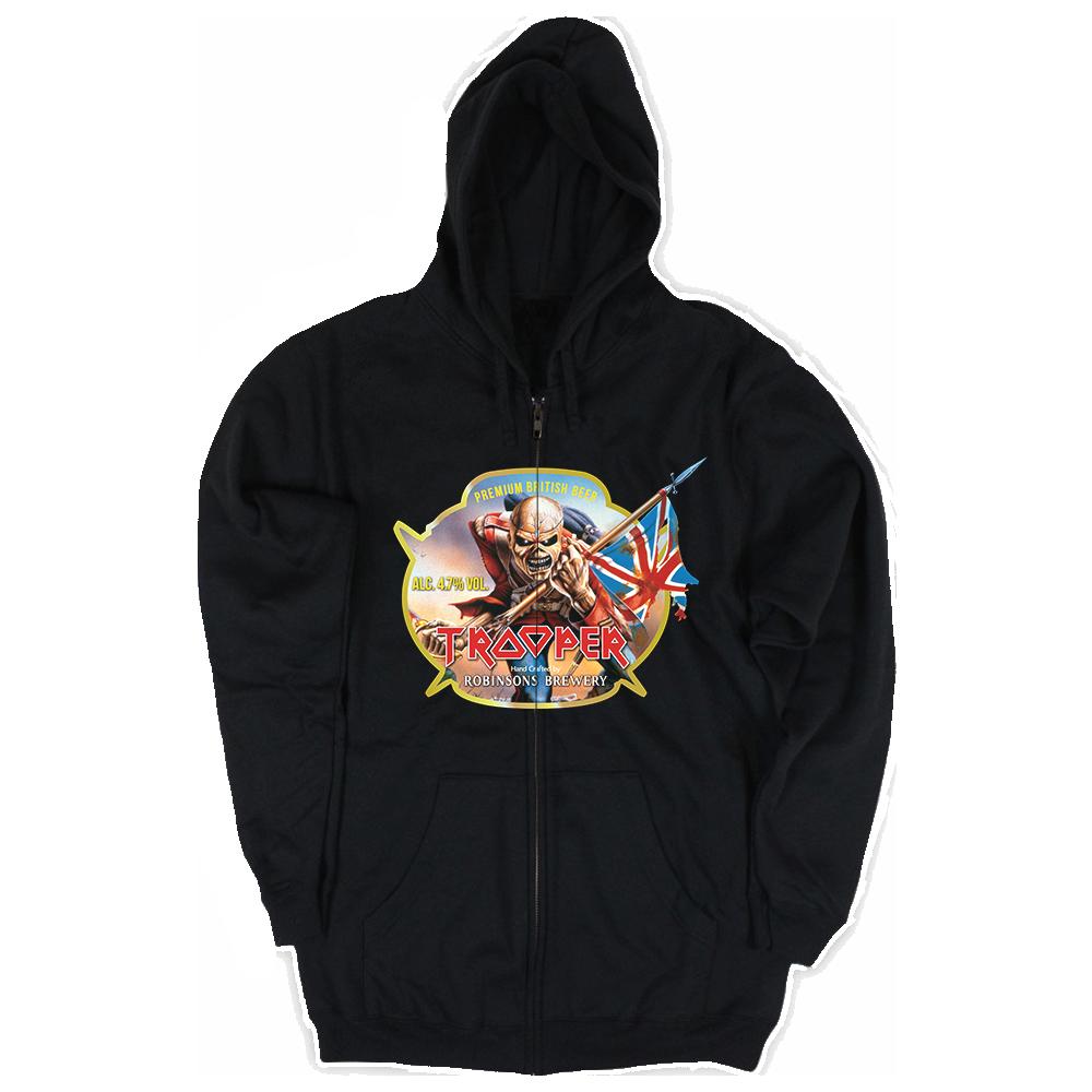 Trooper Beer Zip Hoodie - Iron Maiden [Global USA]