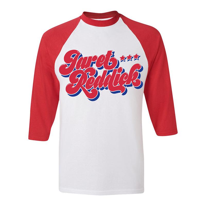 Swirly Logo – Baseball Raglan - Jaret Reddick