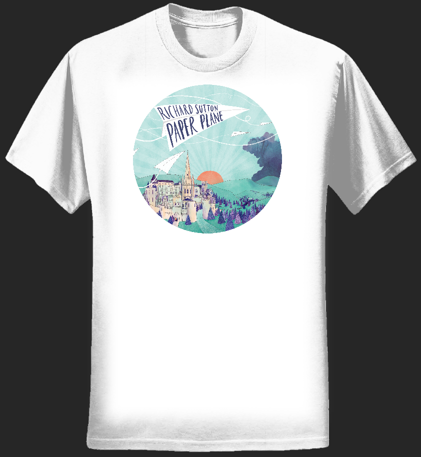 Paper Plane Womens T-shirt - white - RICHARD SUTTON